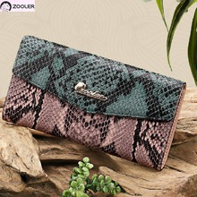 2019 Luxury COW wallets designer woman leather bag ZOOLER day clutches patchwork cow leather wallet card holder purse girl -A101 цена в Москве и Питере