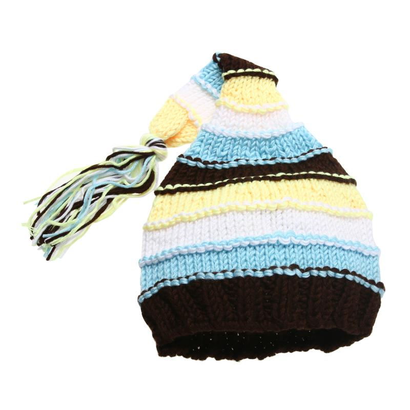 Baby Hat 2017 Infant Winter Warm Childrens Hats For Grils Children Wool Crochet Knitted Cap Beanie Baby Caps Photo Props