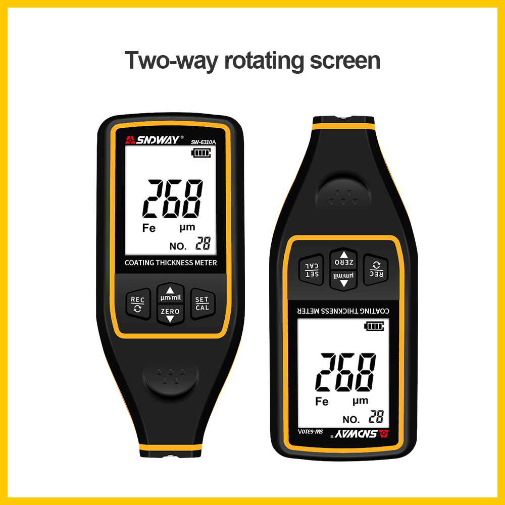 SNDWAY SW-6310A Digital Thickness Gauge Width Measuring Instruments Thickness Gauges Coating Paint Film Thickness Gauge TesterSNDWAY SW-6310A Digital Thickness Gauge Width Measuring Instruments Thickness Gauges Coating Paint Film Thickness Gauge Tester