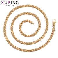 Xuping Classic Elegant Necklace Charm Style Gold Color Plated for Women Men Christmas Party Jewelry Gift S110S 44883
