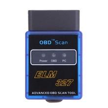 Мини ELM327 OBD2 OBDII ELM 327 Bluetooth V2.1 Диагностический Сканер Инструмент Для Мультибрендовый CAN BUS Android Symbian Windows