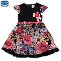 Novatx h3781 vestido del verano del bebé vestido de fiesta de alta calidad de color rosa patten bordado vestidos de niña de niños ropa de los niños