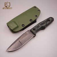 New 2018 knife fixed diving hunting army survival camping cutting tool 9cr18mov steel blade K sheath G10 utility blade knife