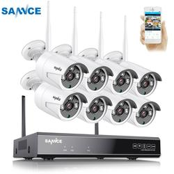 SANNCE 8CH Wireless CCTV System 1080P 2TB HDD 2.0MP NVR IP IR-CUT Outdoor CCTV Camera IP Security System Video Surveillance Kit