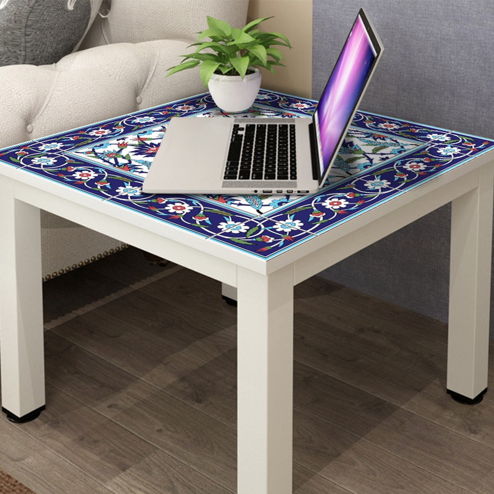 Image 3 - Hot  Moroccan Lack Table Desk Tops Cloth Wall Decals Removable Self Adhesive Waterproof Furniture Wall Sticker 55X55Cm-in Wall Stickers from Home & Garden