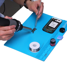 цена на 35x25cm Heat Resistant Silicone Pad Desk Mat Maintenance Platform Heat Insulation BGA Soldering Repair Station