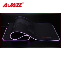 Ajazz AJPADs Gaming Mouse Pad RGB Luminous Mouse Mat 12 Light Effects USB Keyboard Mousepad Anti Slip Foldable Pad for Laptop PC