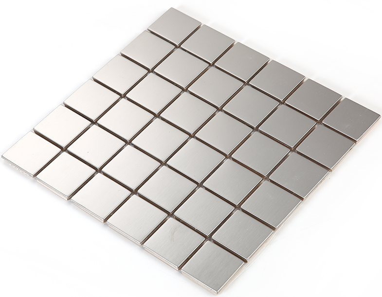Square#304 Stainless Steel Metal Mosaic Tile,Silver Color Metal Mosaic For Kitchen Backsplash Wall Tiles FREE SHIPPING,SA4801 5pcs 304 stainless steel capillary tube 3mm od 2mm id 250mm length silver for hardware accessories