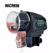 Nicrew 65 мл автоматической подачи рыбы для аквариума Авто Кормление рыб и водные принадлежности с Таймер животное Кормление диспенсер ЖК-дисплей указывает рыбы подачи