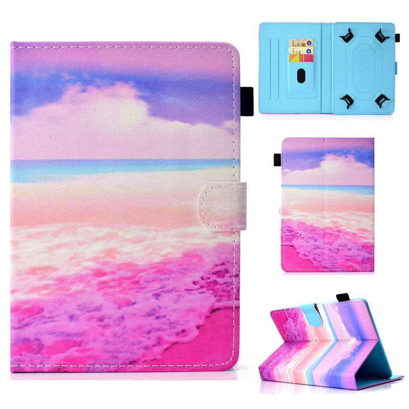10.1 Inch Universal Case With Card Slot For 9.7 10 10.1Inch Tablet With Unicorn Cat Butterfly Printing 9.6 Tab Cover Shell Pouch