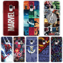 Marvel Avengers Comics สำหรับ Samsung Galaxy S6 S7 S8 S9 S10 PLUS coque สำหรับ Samsung A6 A7 A8 A9 m10 MA20 M30 soft tpu cover(China)