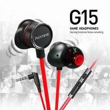 NOVA G15 Fone de Ouvido Com MICROFONE de 3.5mm Com Fio No Ouvido Esporte Baixo Fones de Ouvido Gaming Headset Com Microfone Para Computador Telefone gamer PS4