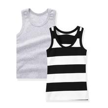 Комплект из 2 предметов; детская футболка без рукавов; майки для мальчиков и девочек; топ на бретелях; футболка; 0932