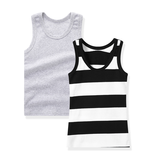 SheeCute 2-pack chindren Sleeveless T Shirt girls boys Undershirts Tank Top A Shirt 0932