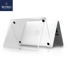WIWU Laptop Case for MacBook Air 13 Pro 15 Lightweight Transparent PC Cover with Touchbar Shell