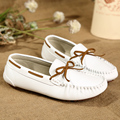 2016  Fashion  leisure flat scrub boat shoes women comfortable flats  genuine leather loafers non-slip shoes woman size35-40