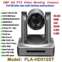 Full HD 1080 p PTZ reunión video cámara CMOS 12X óptico gran angular de 2.0 megapíxeles HDMI 3G-SDI LAN inalámbrico digital montaje de trípode