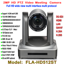 Full HD 1080P PTZ Video Meeting Camera CMOS 12X Optical Wide Angle 2 0Megapixel hdmi 3G