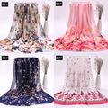 Floral Print Chiffon Gauze Elegant Dress Fabric Tecido For Camisole Dress Upholstery Shirt Curtain For Sewing Doll