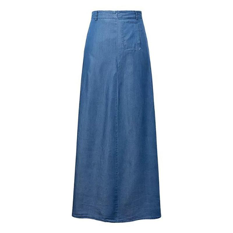 Verwonderlijk Sexy Bohemian Floor Length Long Denim Skirt Women Skirts Casual FP-49