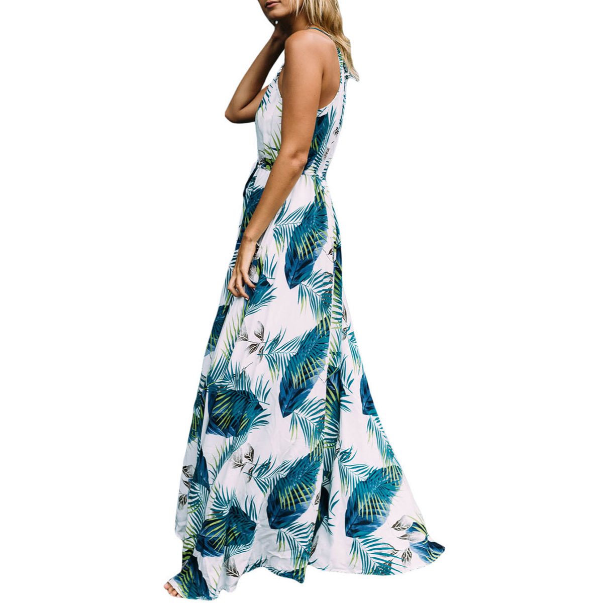 Summer long maxi dress women straps sexy print chiffon  boho beach dresses vintage casual evening party bodycon dress sundress