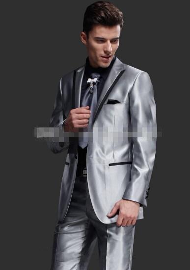 Groomsman Pantalon Gris Argenté Un Hommes Image Smokings Satiné Same Made Marié Mariage Revers Maximale 2016 De Bouton Costumes Cravate Custom Meilleur Homme veste As Inx6qXf