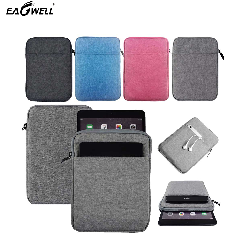 New Sleeve Bag Case For Apple iPad Mini 1/2/3/4 Air 1 2 Fashion Solid Space+cotton canvas+plush Tablet Sleeve Pouch Case Cover