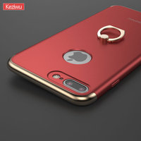 For IPhone 7 7plus Cases Luxury PC Frame With Ring Ring Bracket Function Back Cover 3