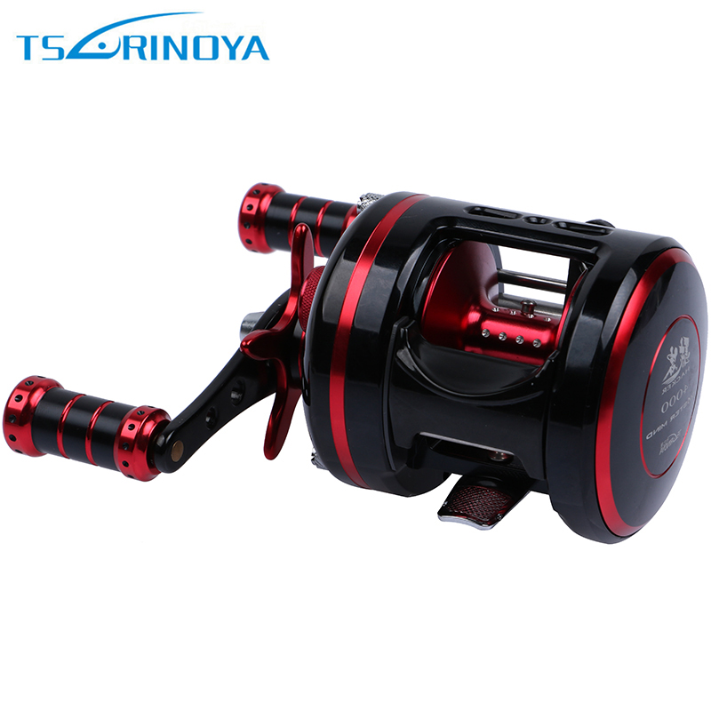 Trulinoya HACKER Cast Drum Fishing Reel 5.3:1 8+1BB Saltwater BaitCast Reels Full Metal Bait Casting Fishing Wheel new 12bb left right handle drum saltwater fishing reel baitcasting saltwater sea fishing reels bait casting cast drum wheel