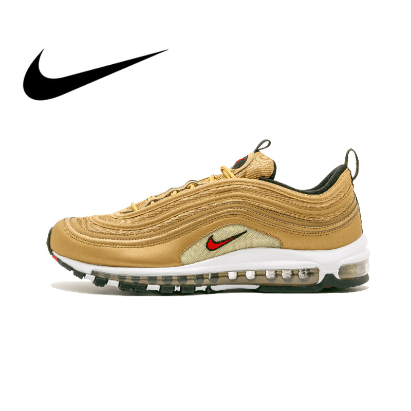 Officiel Véritable Nike Air Max 97 OG QS VERSION Pour Hommes de chaussures de course Respirant Sport Sneakers En Plein Air de Sport Respirant 884421