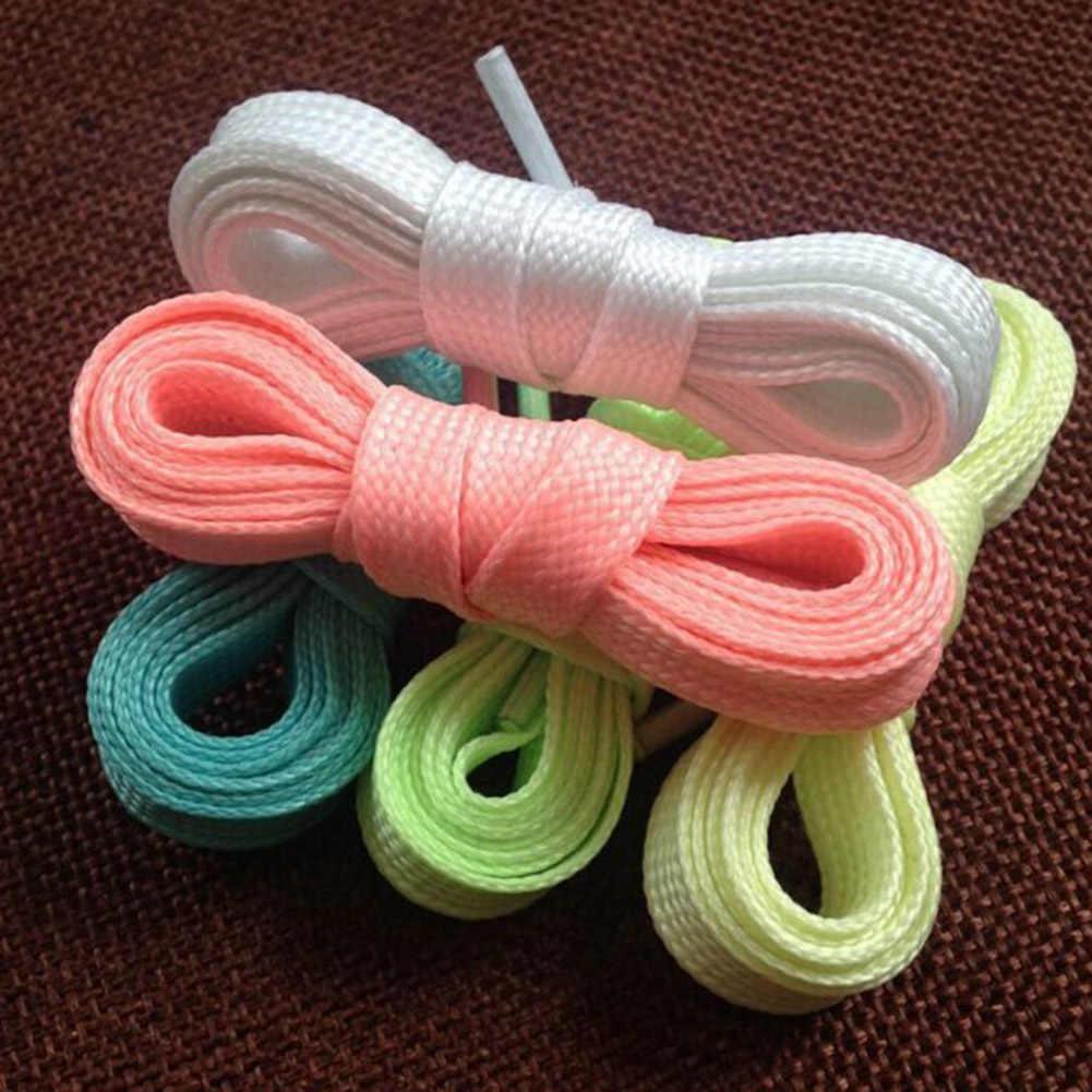 1 par 60cm cordones luminosos 2019 brillan en la oscuridad cordón deporte Atlético fluorescente cordones de encaje picante