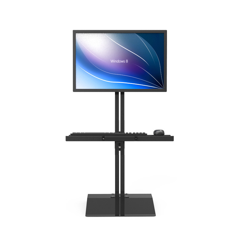 Customized Full Motion Desk Stand Sit-Stand Workstation Monitor Holder+ Keyboard Holder