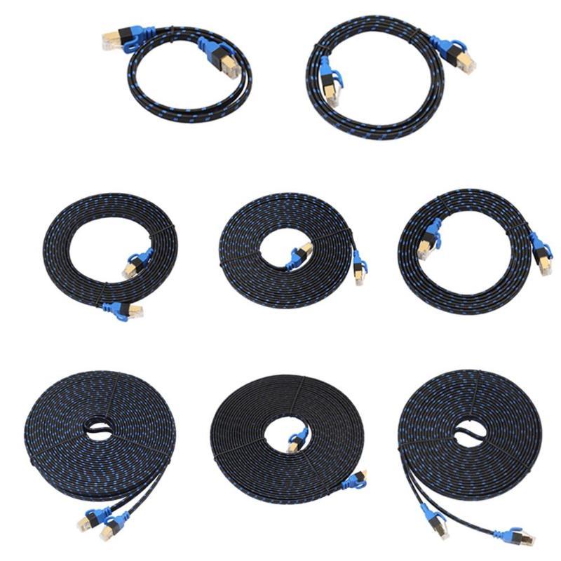0,5 M/1 M/2 M/3 M/5 M Vergoldete Stecker Ethernet Kabel Rj45 Cat7 Lan Kabel Netzwerk Flache Kabel Draht Mit Fibre Für Router Switch