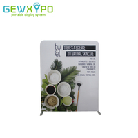 182*228cm Exhibition Signs Pillow Case Style Banner Tension Fabric Display Straight Backdrop Stand With Your Graphics Printing