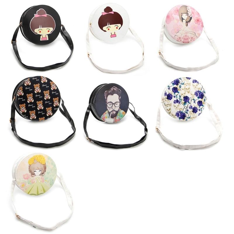 Women Handbag Shoulder Bags Tote Purse Lady Messenger Crossbody Hobo Round Bag women s fashion pu leather messenger hobo handbag purse shoulder bag purse lady tote black