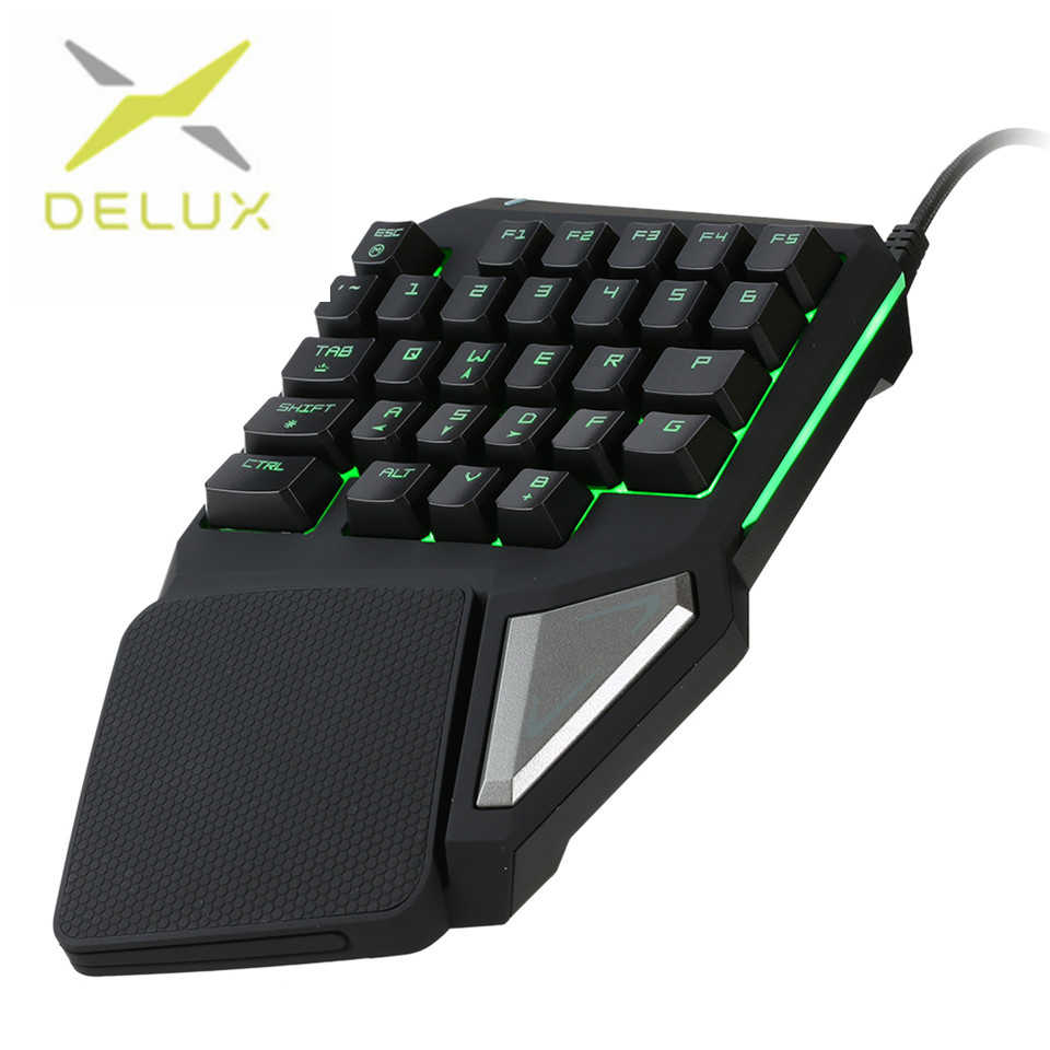 1a05a264c69 Detail Feedback Questions about Delux gaming keyboard T9 Pro wired  Professional gaming mini keyboard 7 Color Backlit Single Hand 30 keys  Ergonomic Keypad on ...