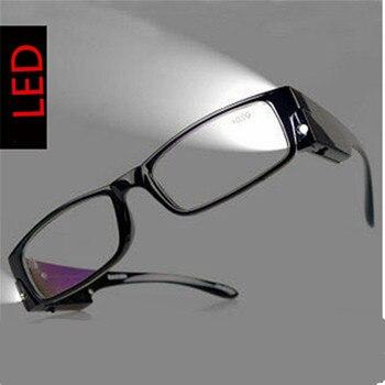 b2bc776315 Moda Gafas para leer para parnents fuerza MULTI LED Gafas para leer  spectacle dioptrías lupa luz para la noche