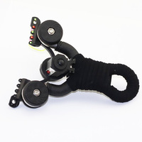 Best quality stainless steel fiber optic sight flat rubber band slingshot button battery Infrared laser catapult