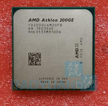 Nouveau processeur d'unité centrale Quad-Thread double cœur AMD Athlon 200GE X2 200GE 3.2 GHz YD200GC6M2OFB Socket AM4