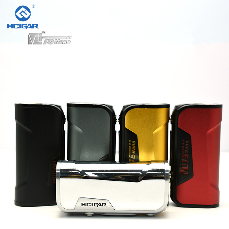 100% Originale HCigar VT75 nano DNA75 chip TC Box Mod. e-sigarette Vape Mods Corpo unico 18650 mini box mod