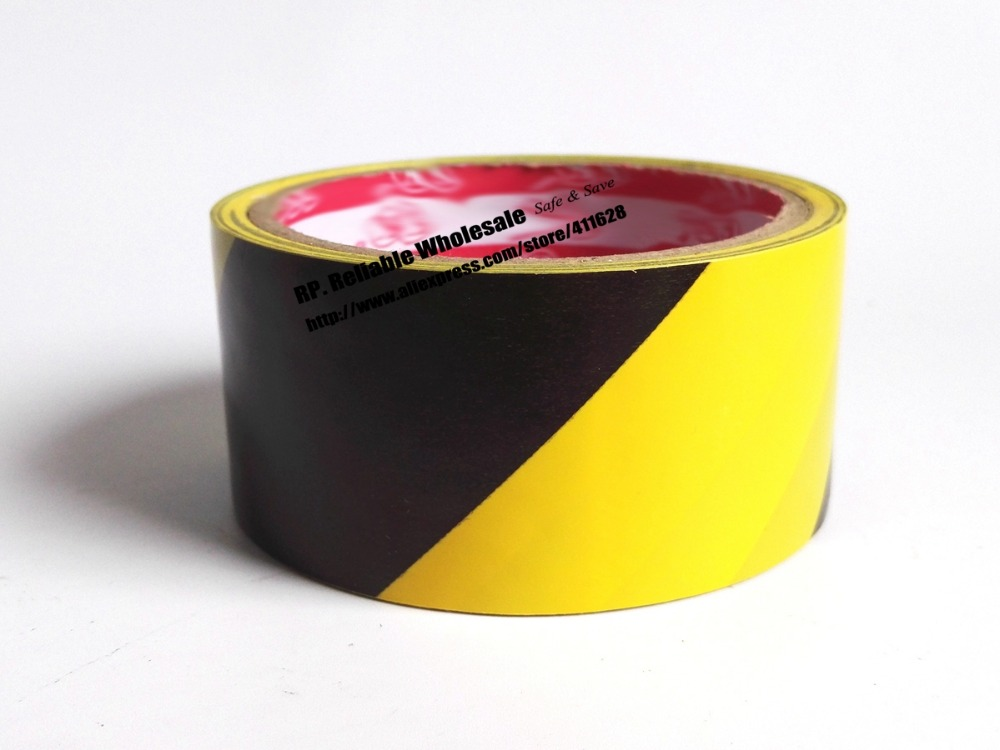 1x 4.5cm * 18 meters Floor Warning Adhesive Tape /Work Area Caution Tape / Ground Attention Tape Abrasion-Proof Yellow/Black self adhesive hazard warning pvc tape black yellow 4 5cm x 18m