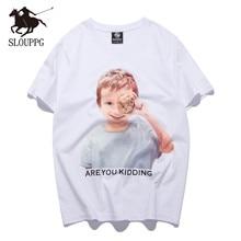 2019 SLOUPPG new fashion Casual T-SHIRT couple trend brand t-shirt original boy print short-sleeved cotton Streetwear tshirt men