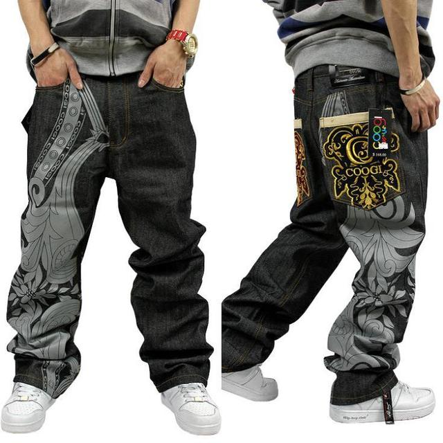 2014 New Arival Hip Hop Baggy Jeans for Men Famous Brand ...