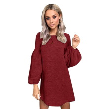 Autumn Winter Womens Knit Sweater Dress Cotton Casual Loose Pullover Long Sleeve Sexy Party Women Vestidos