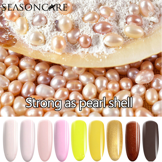 SEASONCARE GelPolish Pearl fragrance Color For Long-lasting Nail Art Manicure 30colors Soak-off UV Led Gel Polish