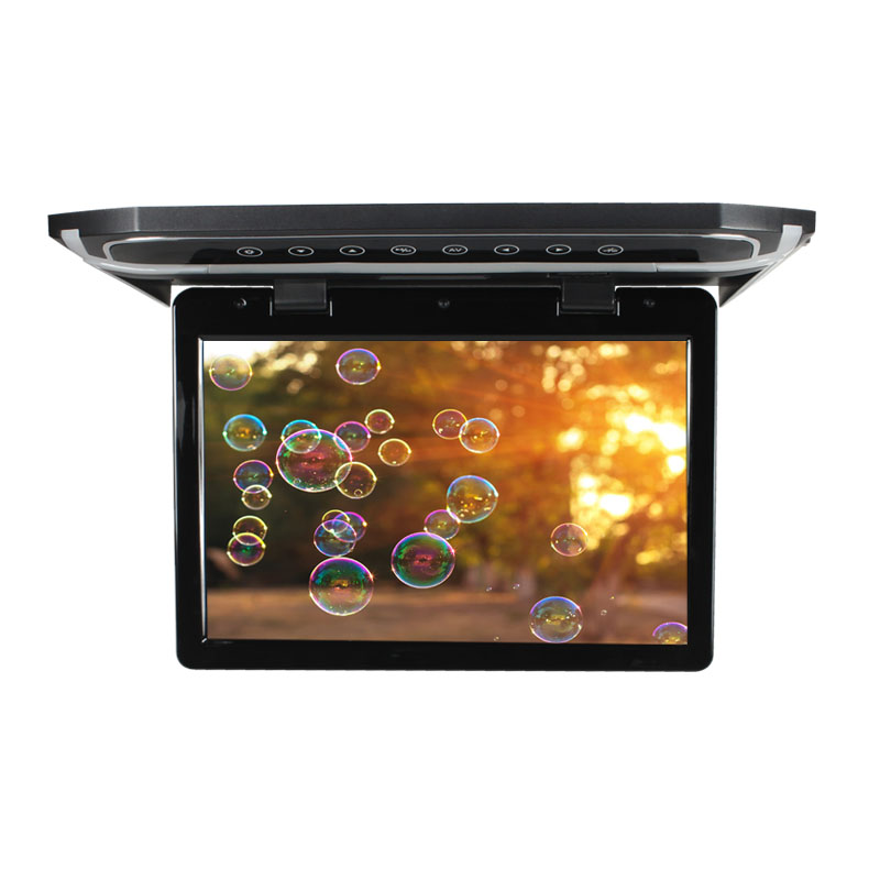 12.1 inch Slim Design Roof Mount Monitor,HDMI Input,LED Technology,HD Resolution,Blue Ambience Light,AV Input,12 Volt,SD Memoria