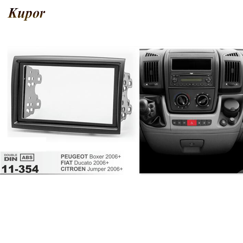 11-354 Car Radio Fascia For CITROEN Jumper/PEUGEOT Boxer/FIAT Ducato 2006+ Stereo Fascia Dash CD Trim Installation Frame Kit 11 405 car radio dash cd panel for kia skoda citigo volkswagen up seat mii stereo fascia dash cd trim installation kit