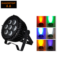 TIPTOP 7x18W 6IN1 RGBWA+uv Led Washer Light High Quality DMX Led Wall Washer 90 240V 130W Led par light 6/10 CH TP P100