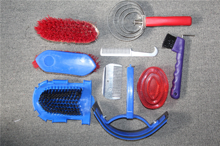Aoud Saddlery Horse Riding Racing Equipment Horse Cleaning Tool 10 Pcs/set  Horse Massage Brush Paardensport Equitation Cheval