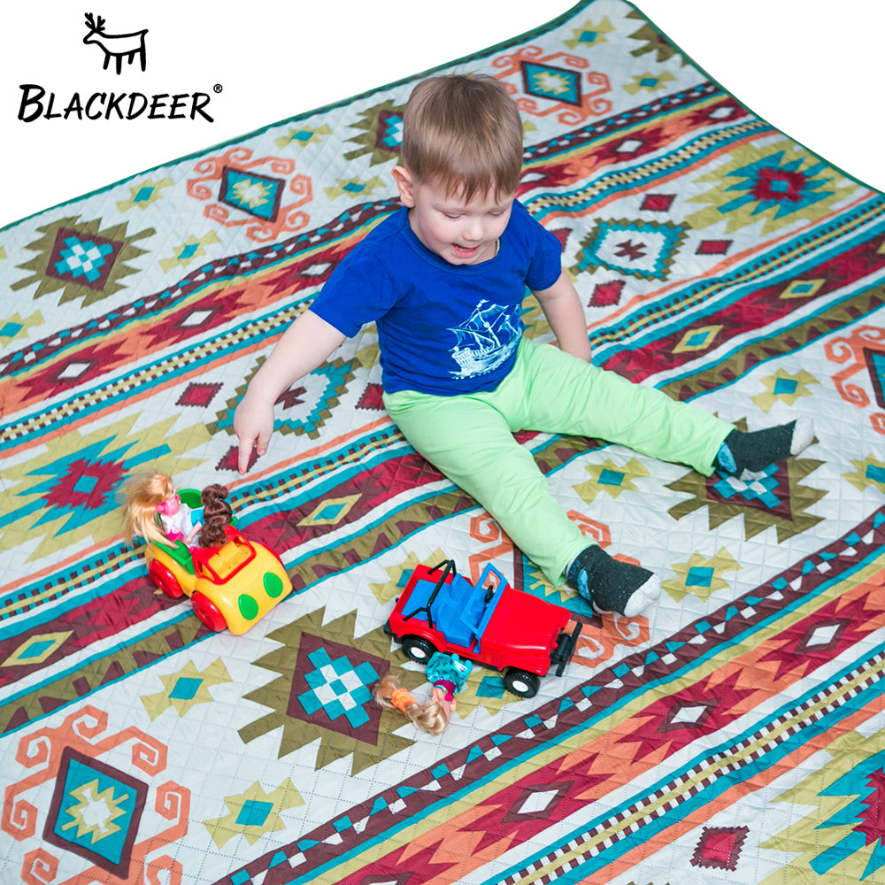 BLACKDEER Camping Mat For Family Nation Style Printed Thicken Waterproof Picnic Beach Mat Child Play Spring Machine WashableBLACKDEER Camping Mat For Family Nation Style Printed Thicken Waterproof Picnic Beach Mat Child Play Spring Machine Washable